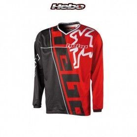 CAMISETA HEBO PHENIX CROSS/ENDURO (NEGRO-ROJO)