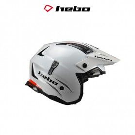 CASCO HEBO TRIAL ZONE 4 2020 MONOCOLOR BLANCO
