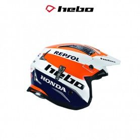 CASCO HEBO TRIAL ZONE 4 MONTESA TEAM III BLANCO