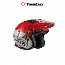 CASCO HEBO TRIAL ZONE 4 TONI BOU REPLICA BLANCO