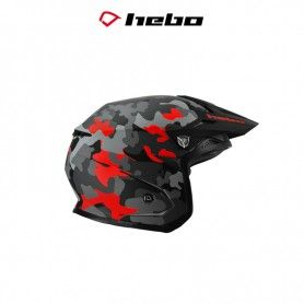 CASCO HEBO TRIAL ZONE 5 CAMO ROJO