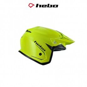 CASCO HEBO TRIAL ZONE 5 MONOCOLOR AMARILLO FLUOR