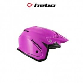 CASCO HEBO TRIAL ZONE 5 MONOCOLOR ROSA