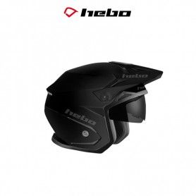CASCO HEBO TRIAL ZONE 5 MONOCOLOR NEGRO MATE