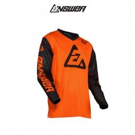 CAMISETA ANSWER ARKON BOLD NARANJA / NEGRO