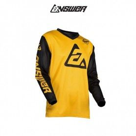 CAMISETA ANSWER ARKON BOLD AMARILLO / NEGRO
