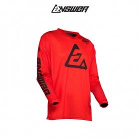 CAMISETA ANSWER ARKON BOLD ROJO / NEGRO