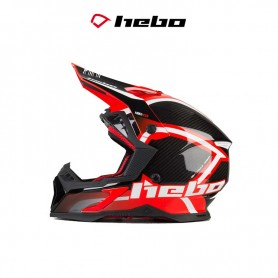 CASCO HEBO MX LEGEND CARBON ROJO