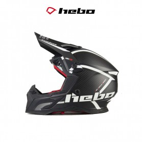CASCO HEBO MX LEGEND CARBON NEGRO